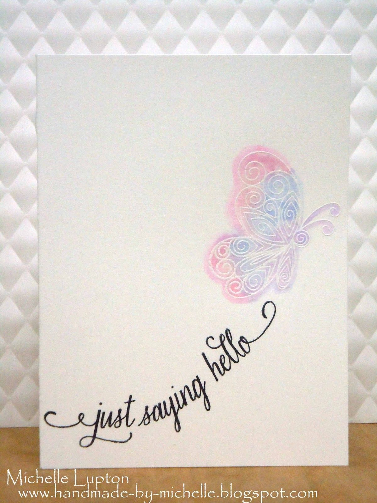 handmade by michelle clean and simple butterflies my cards