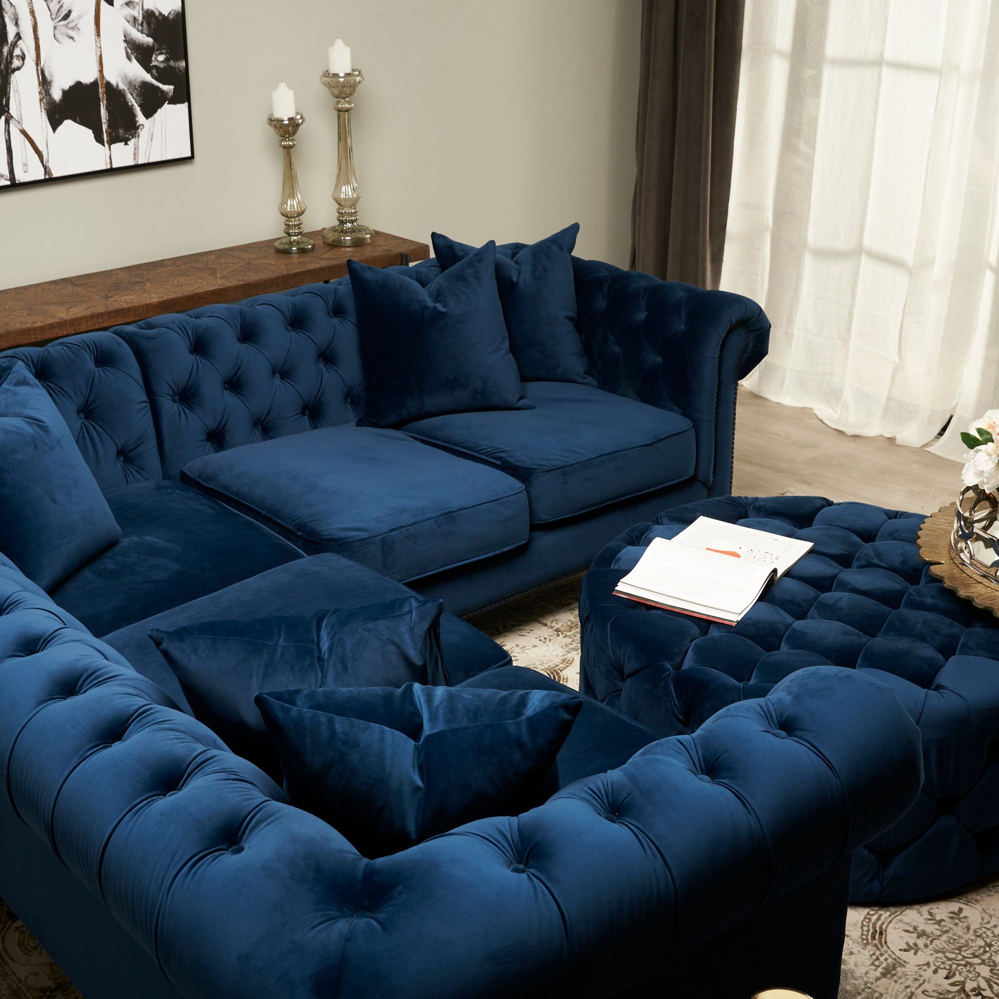 Looking For A Luxurious Velvet Sofa Look No Further Than Our Marcelle Corner Sofa Luxury Furniture Home Decor Bedroom Modern Furniture Stores #no #couch #living #room #ideas