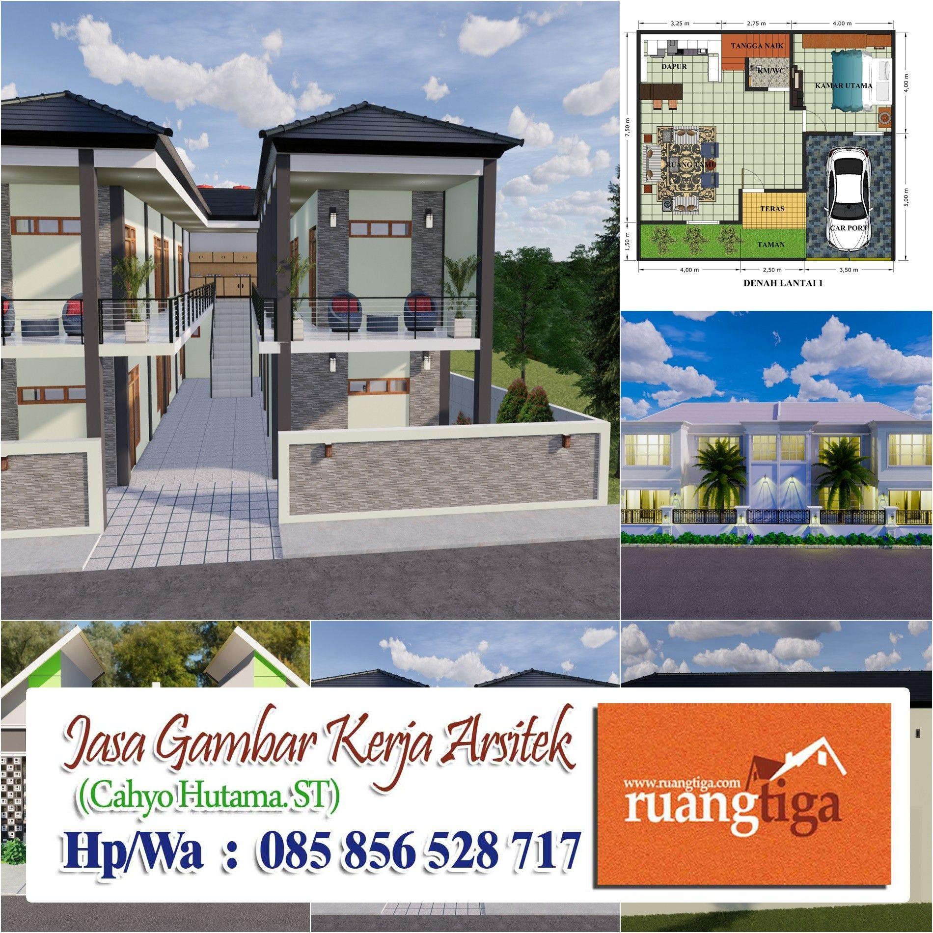 Desain Rumah Mewah 2 Lantai Autocad Cek Bahan Bangunan