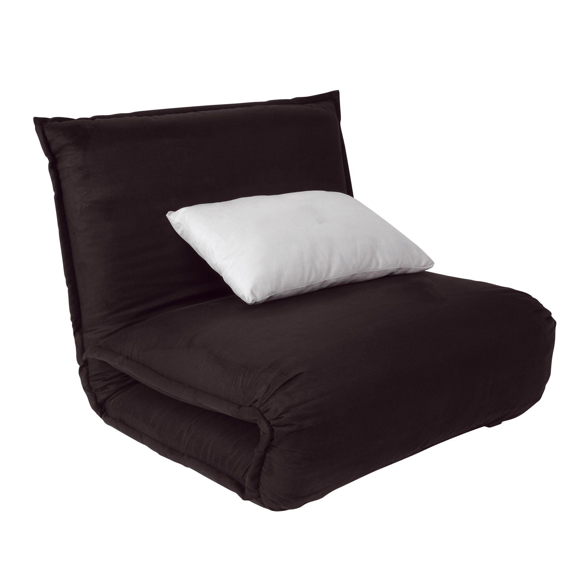 fauteuil convertible noir noir dodo fauteuils fauteuils et poufs salon et salle manger. Black Bedroom Furniture Sets. Home Design Ideas