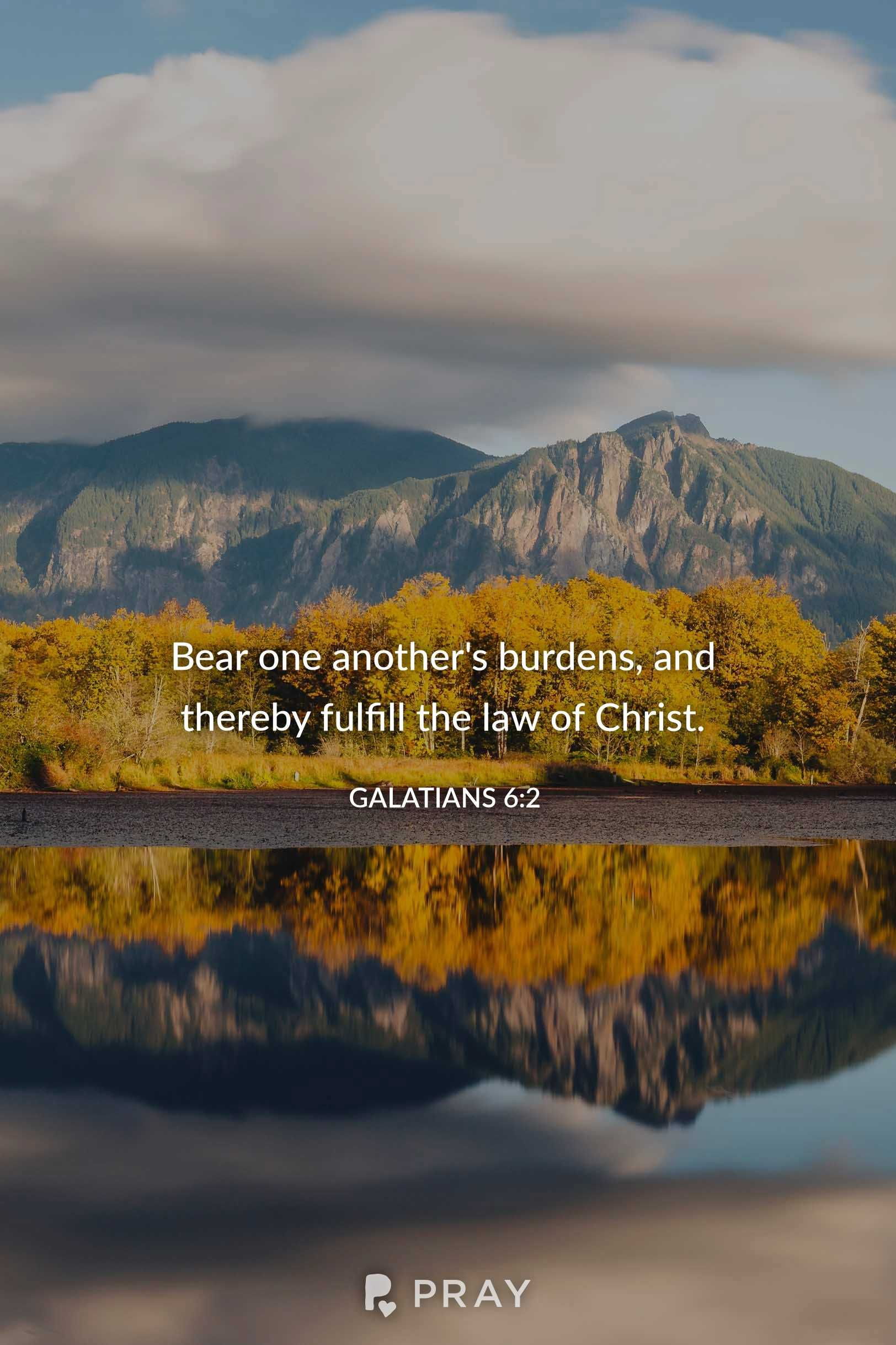 Galatians 62 ️ 🔊🙉 Hear daily verses with a prayer on Pray