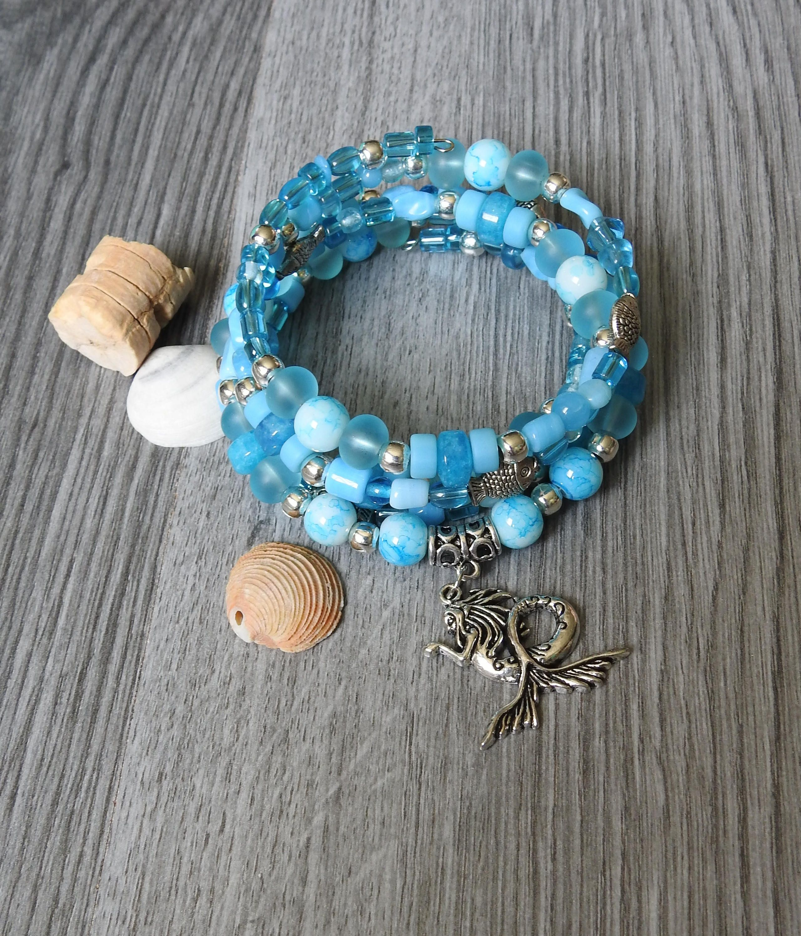 sand wrap gemstone sea products sediment jasper jewelry boho turquoise bracelet leather dollar beach