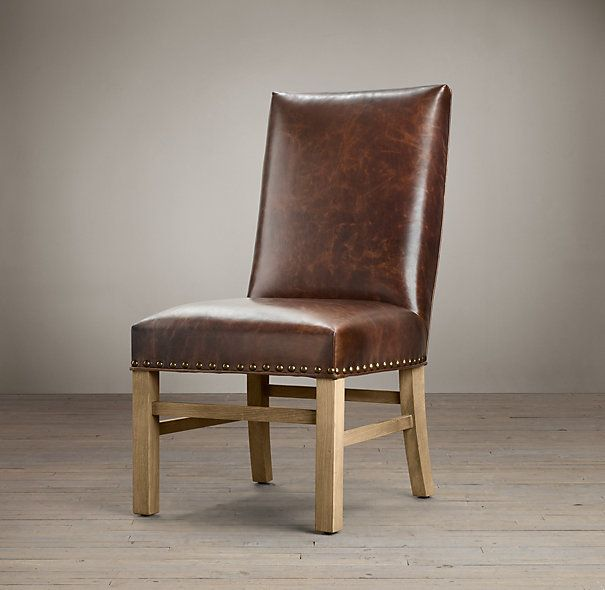 Leather Nailhead Side Chair | Chairs   Dining Room | Pinterest | Side Chair,  Dining Chairs And Solid Oak