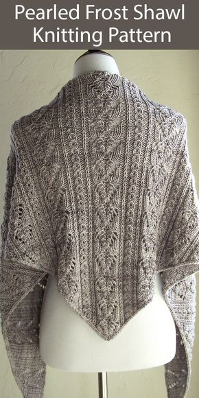 Pearled Frost Knitting pattern by Melanie Rice