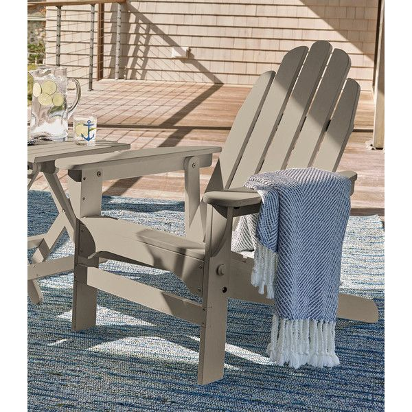 L Bean Reclining Wooden Adirondack Chair 269 Liked On Polyvore Featuring Home