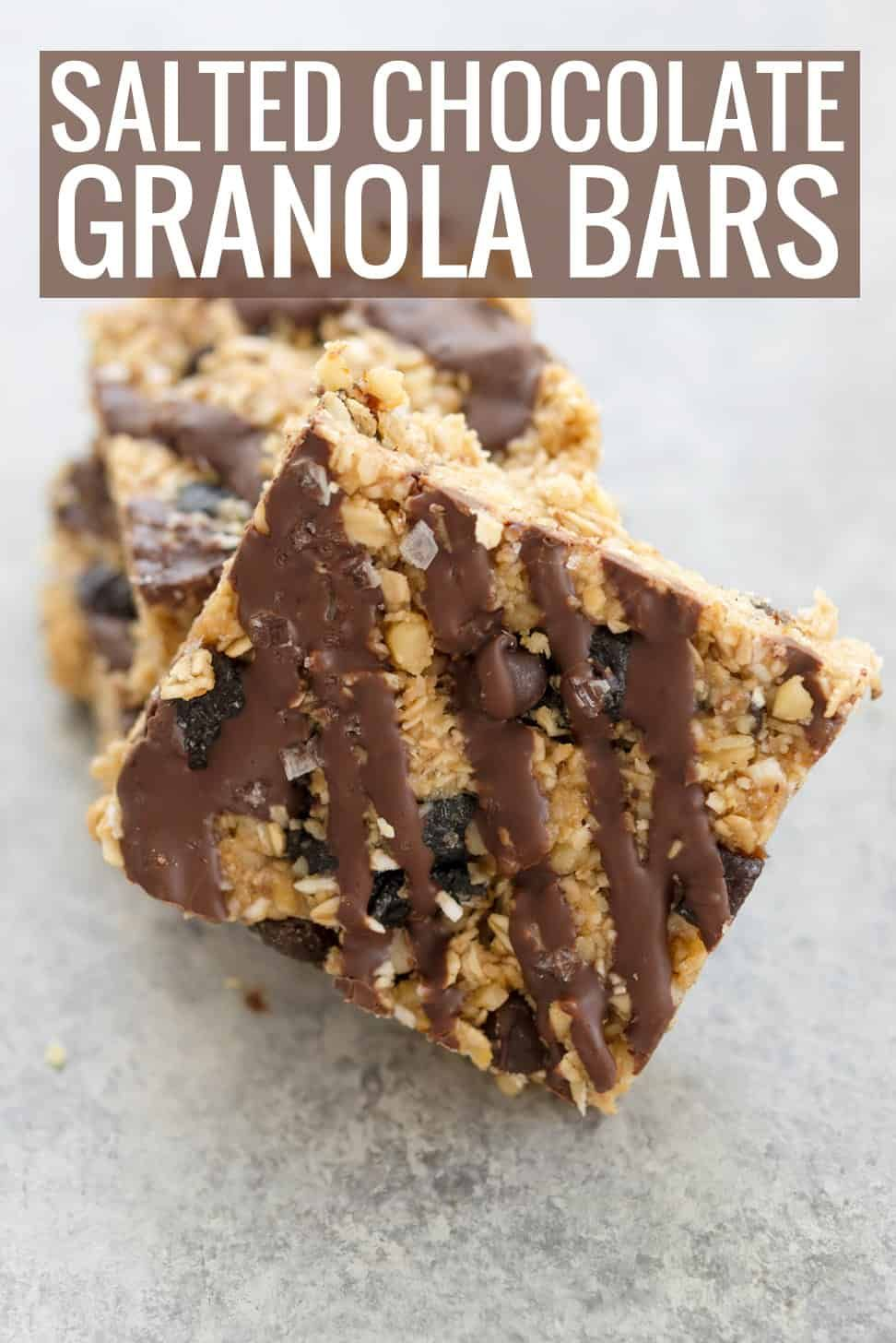Kitchen Sink Bars These Salted Chocolate Granola Are Amazing Packed With Oats Prunes Coconut Peanut Er And More