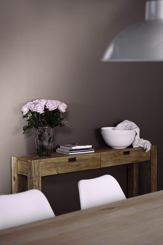New traditionals krijtverf kleur silt op de wand in for Wand woonkamer