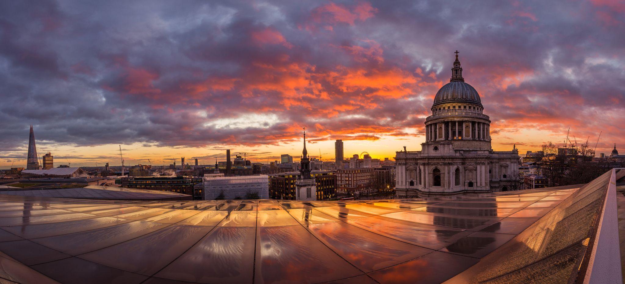 Sundown - St Paul's from One New Change St Paul's ...