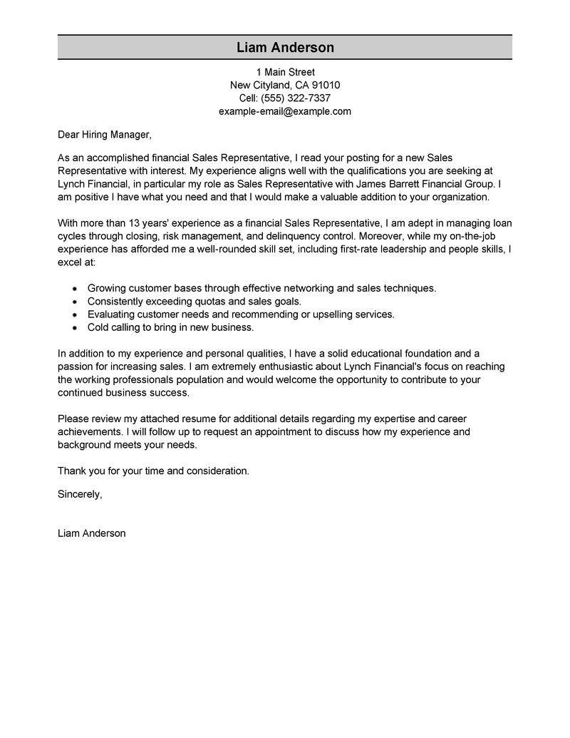 26 Effective Cover Letter Samples Cover Letter For Resume