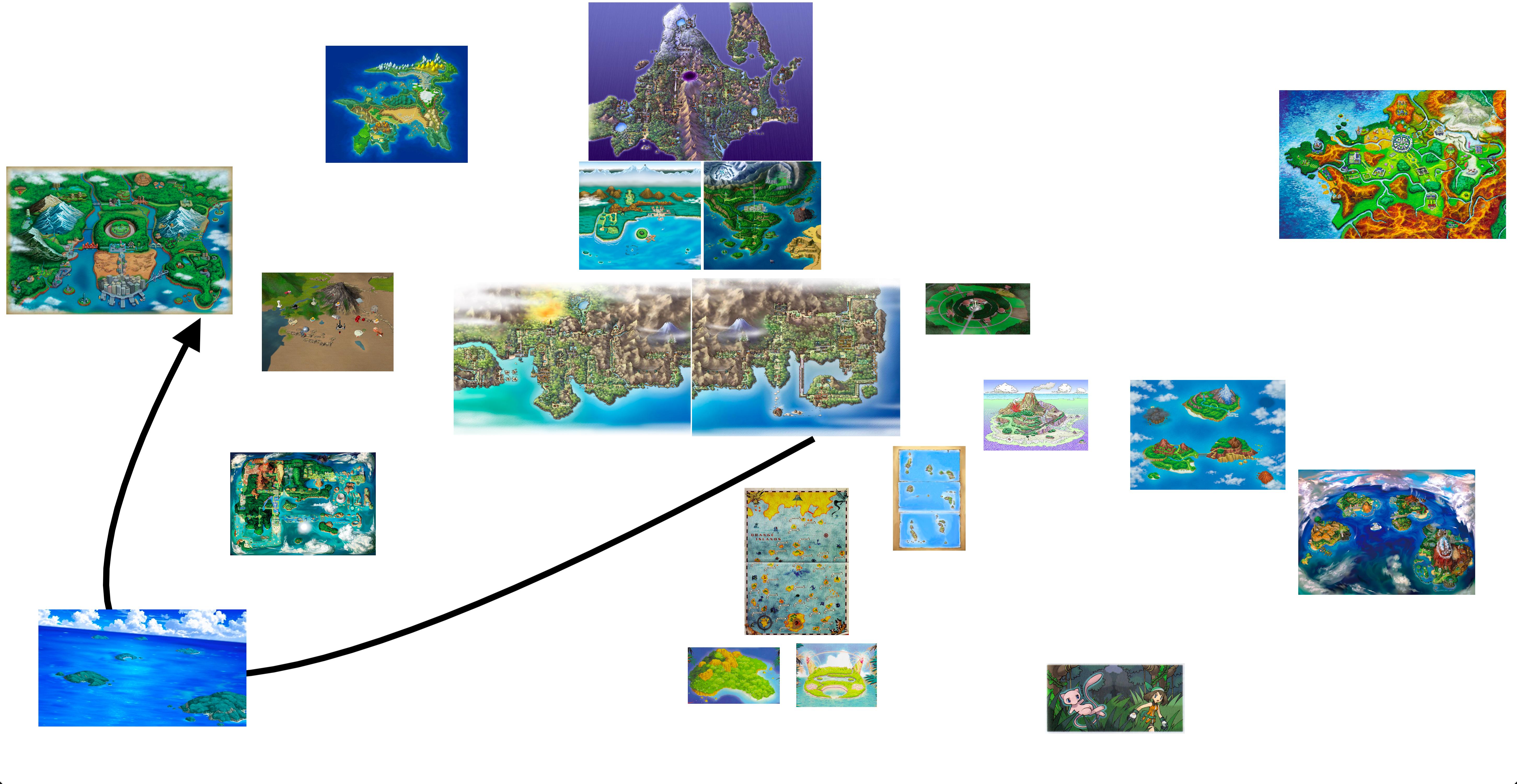 Here\'s My Take On The Pokémon World Map! | pokemon-games | Pinterest ...