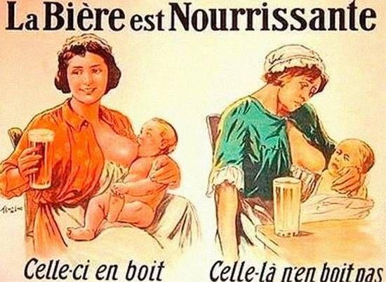 La Bière est Nourrissante celle-ci boit  celle-là n'en boit pas Beer is a nutritious drink that one does not drink