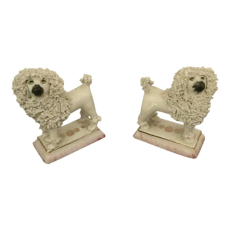 Staffordshire Ware Kent Lion Poodles A Pair In 2019 Yorkshire