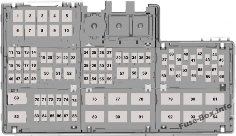 Under Hood Fuse Box Diagram Ford Mustang 2015 2016 2017 2018 2019 2015 Ford Mustang 2015 Mustang Fuse Box