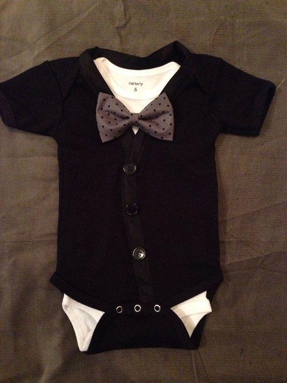 Black Tie Newborn Boy Clothes Baby Kids Newborn Outfits