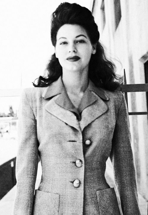 Ava Gardner c. 1940's Love the jacket and the hair...