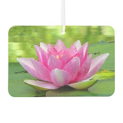 Water lily lotus flower air freshener daily picks pinterest water lily lotus flower air freshener this fine art floral air freshener features an exquisite pink water lily lotus flower resting on circular green lily mightylinksfo