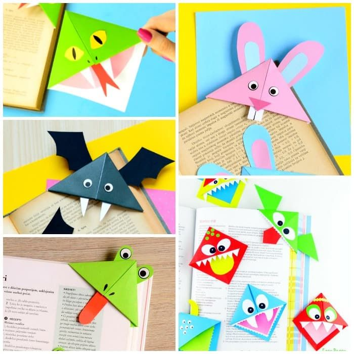 How to Make Corner Bookmarks  Ideas and Designs  Kids