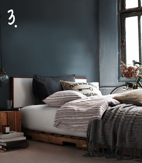 Dark Blue Gray Bedroom dark moody blue-grey wallsugarnectar | snoozy spaces
