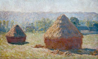 Monet did a study of haystacks throughout the four seasons. His ability to capture light is incredible.