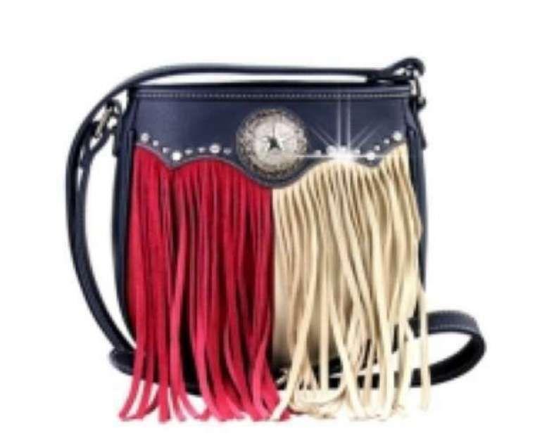 Designer Texas Flag Rhinestone Women S Concealed Handbags Purse Ebay In 2020 Purses Handbags Rhinestone