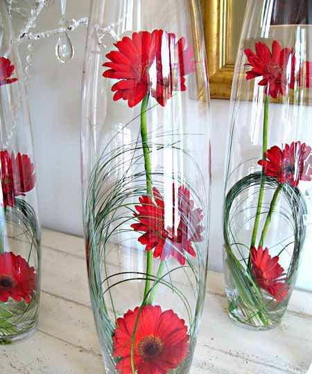 Bullet Vase With Gerberas With Images Flower Arrangements