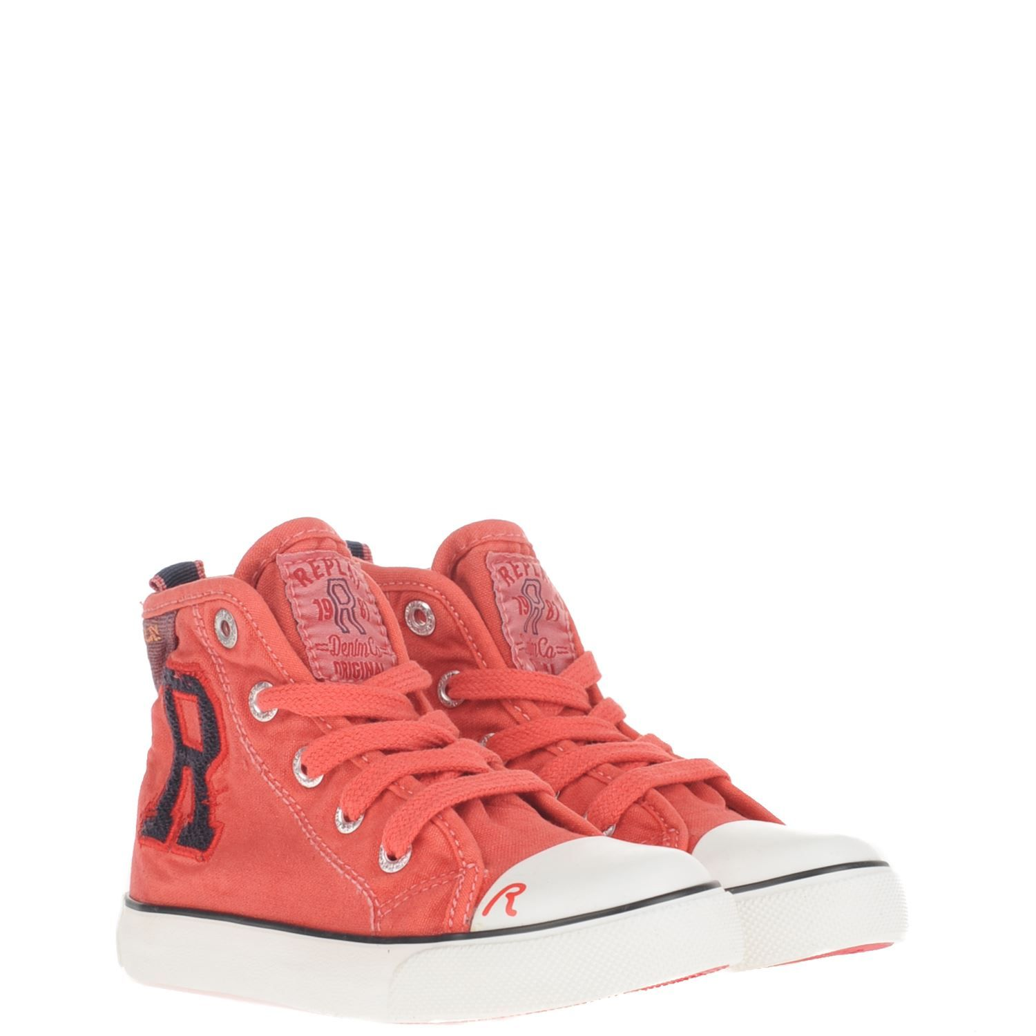 Replay canvas sneakers rood