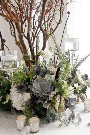 modern succulent wedding centrepiece - brides of adelaide The Big