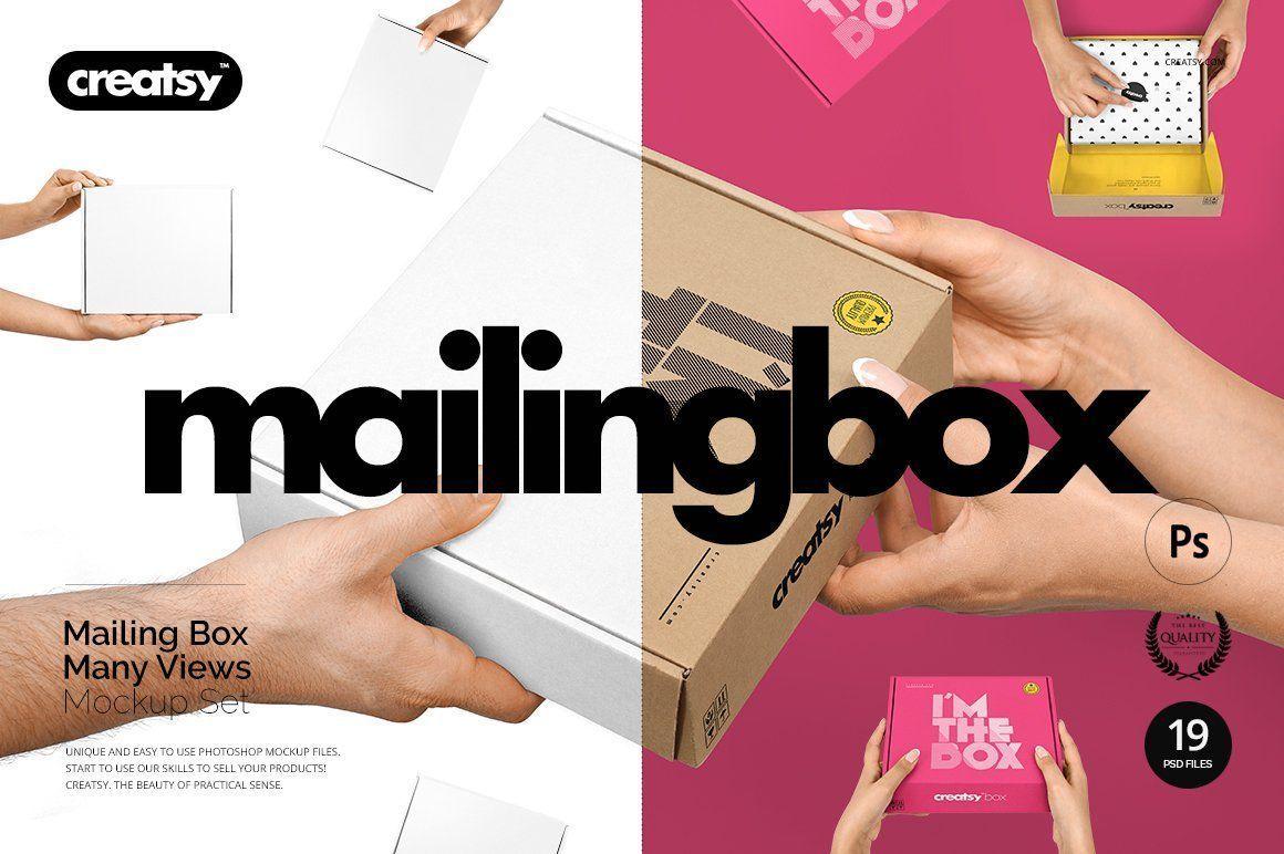 Download Mailing Box Mockup Set Mockup Mailbox Box Package Delivery Box Mockup Mockup Paper Mockup