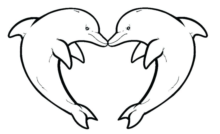 Easy Dolphin Coloring Pages Ideas Free Coloring Sheets Dolphin Coloring Pages Dolphin Drawing Heart Coloring Pages