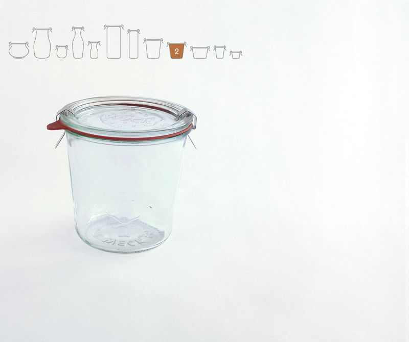 Weck Glass Storage Jars With Glass Lids Stainless Steel Clamps