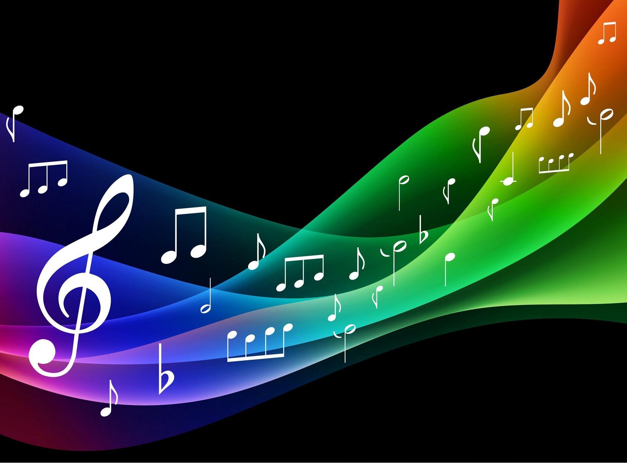 Colorful Musical Notes Hd Desktop Wallpaper Widescreen High Seni