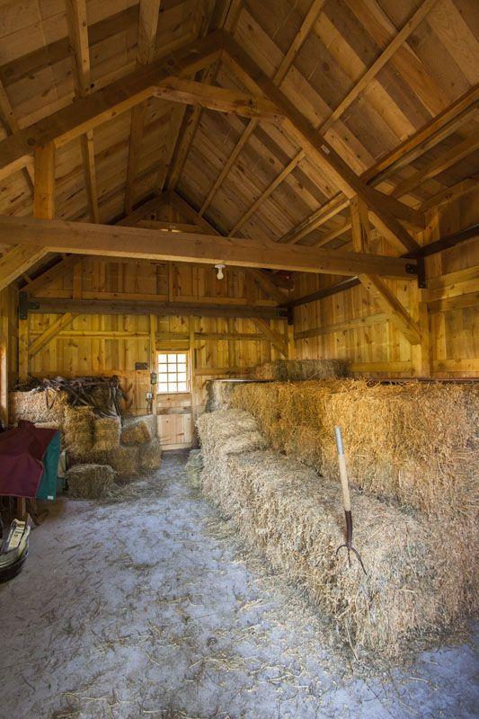 Horse Barn Interior Hay Storage Sandcreekpostandbeam Facebook SandCreekPostandBeam