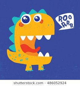 cute dinosaur illustration with texture and typo for baby print #dinosaurillustration