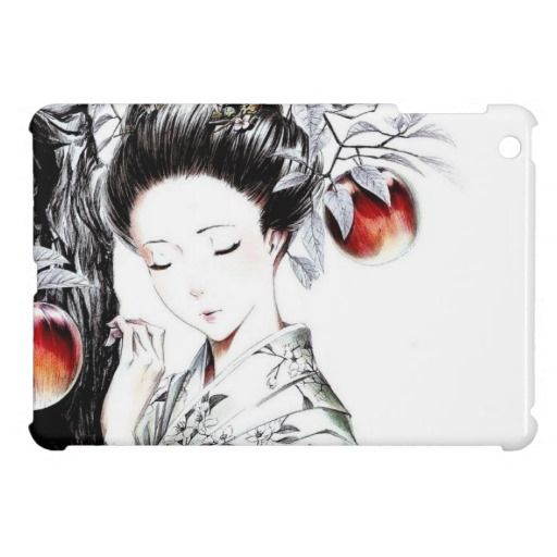 Elegant Geisha Art iPad Mini Cases #iPad #japanese #case #cover #oriental #gift #geisha
