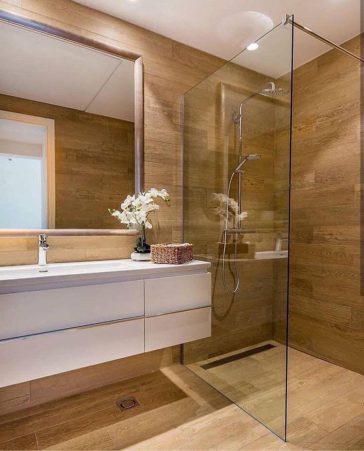 Indeza De Banheiro Com Revestimento Madeira