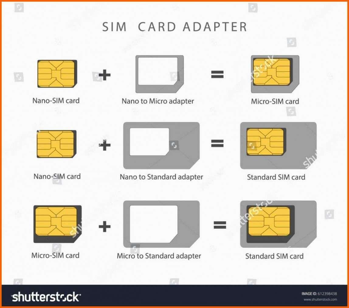 Makellos Vorlage Micro Sim Zu Nano Sim Template Design Card Design Business Plan Template