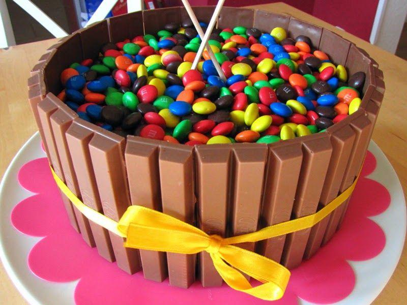 Eine Kitkat Smarties Geburtstagstorte Und Das Wunderkuchen Rezept