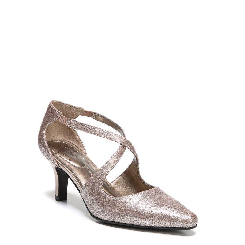 02c20b457f1c Lifestride Women s Kalika Medium Wide Pump Shoes (Champagne)