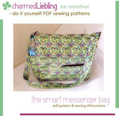 pdf sewing pattern: The smart messenger bag | Bags | Pinterest | Pdf ...