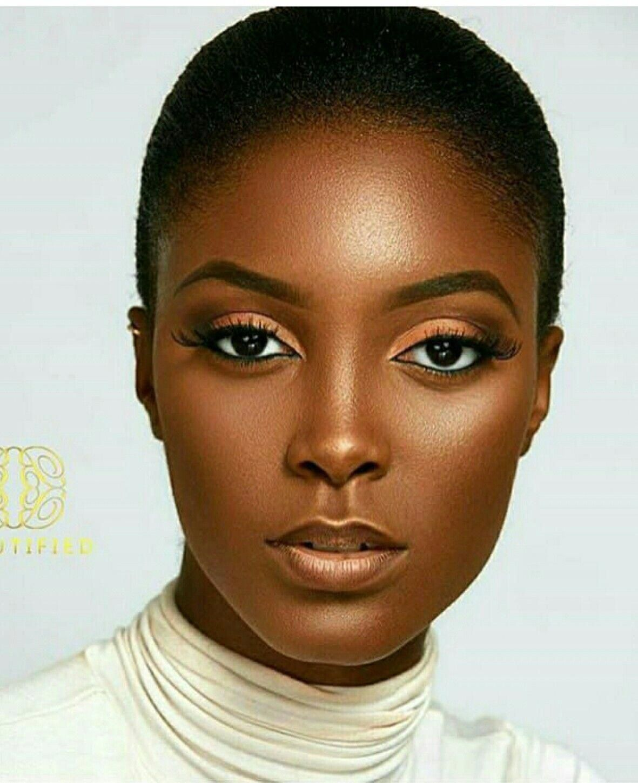 Large eyes BlackwomenBeautiful Dark skin makeup, Dark