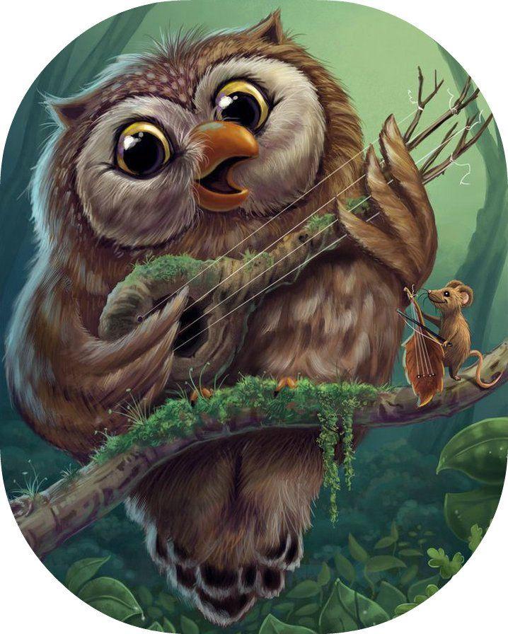 Картинки совы сказочной