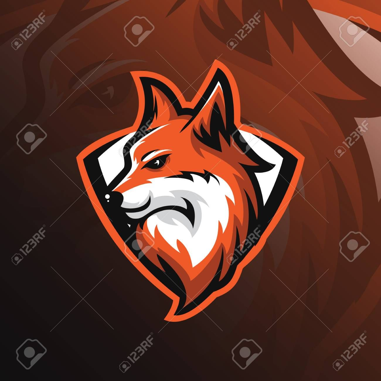 Fox Logo Mascot Design Vector With Modern And Emblem Style Fox Royalty Free Cliparts Vectors And Stock Illu Mascot Design Fox Logo Sports Logo Inspiration