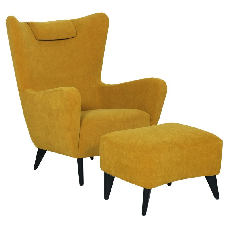 the sits elsa armchair is a traditional wing-backed armchair with