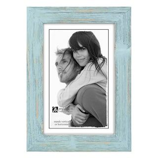 Malden Linear Distressed Frame Blue Picture Frames Picture Frames Picture Frame Colors