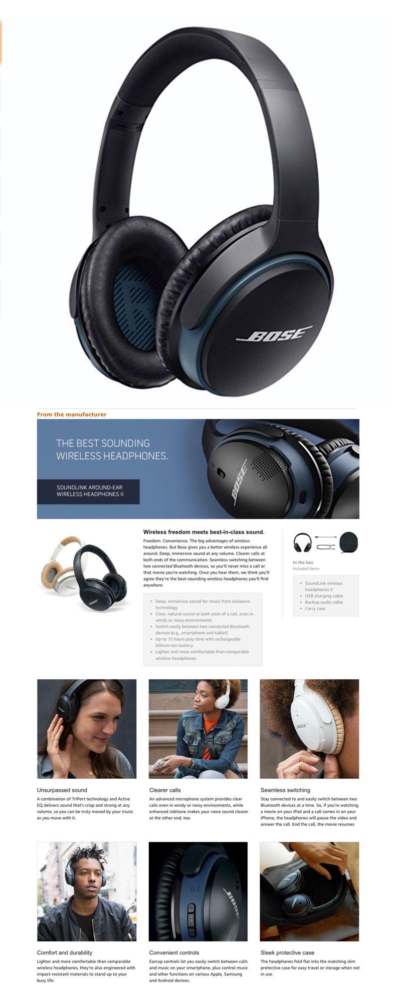 Bose Soundlink Wireless Headphones Bose Soundlink Headphones