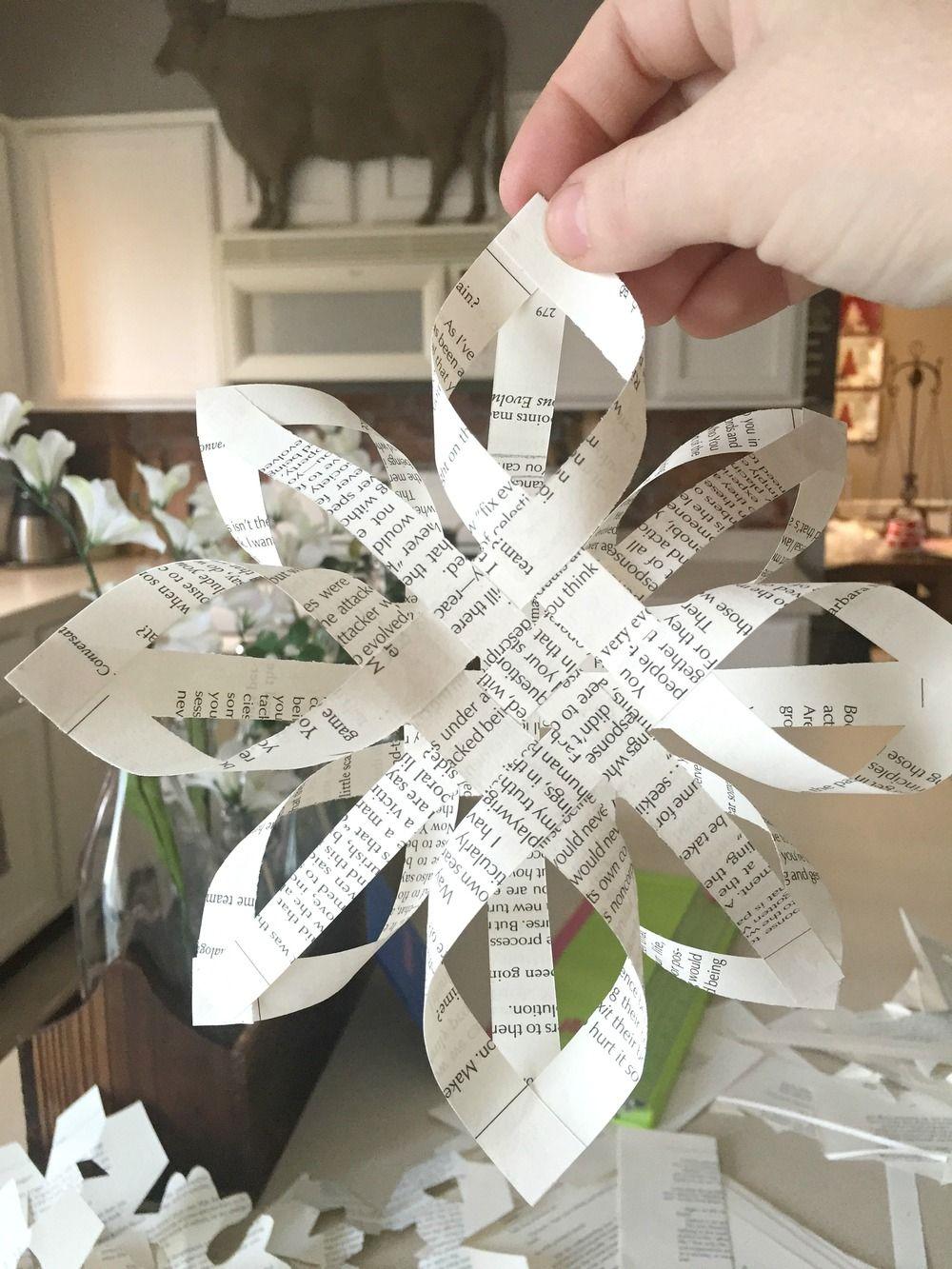Diy 3d paper snowflake garland tutorial 3d paper for Diy paper snowflakes 3d