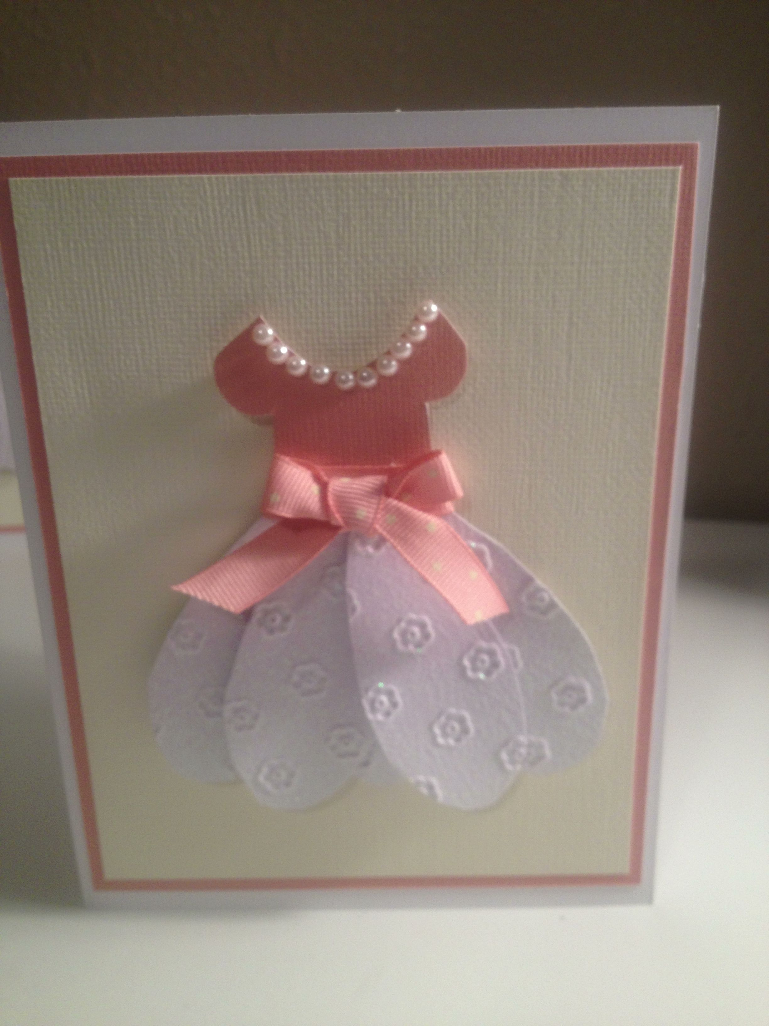 Cute card for a little girl. Made a couple of these