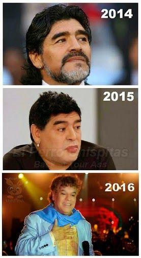 Maradona segun pasa el tiempo