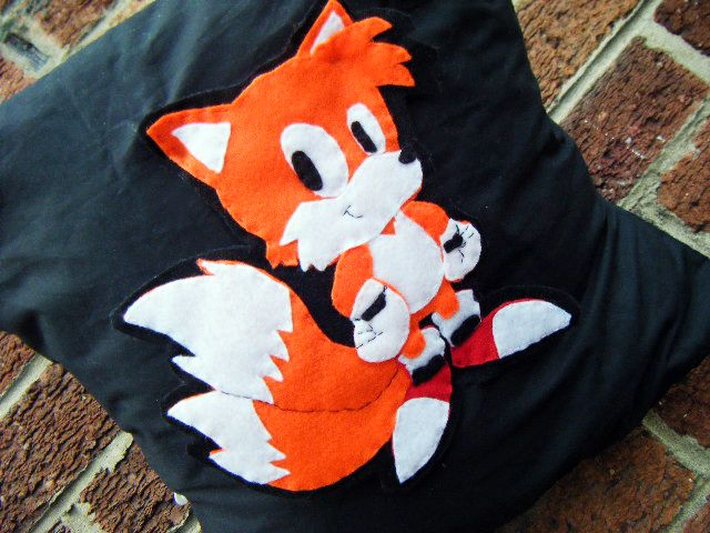 tails miles prower fox sonic video game pillow cushion gift