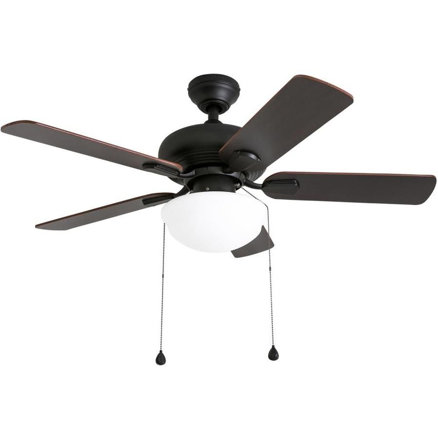 Harbor Breeze Caratuk River 42 In Oil Rubbed Bronze Led Indoor Ceiling Fan With Light Kit In 2020 Ceiling Fan Low Ceiling Lighting Bronze Ceiling Fan